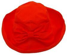 Milani Women's Versatile Large Brim Summer Bucket Hat W/Bow #1068 Orange