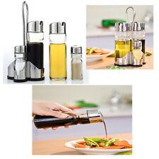 Set Olio Aceto Sale Pepe 4 Pezzi Cestello Da Cucina Oliera Ristorante Vetro 176