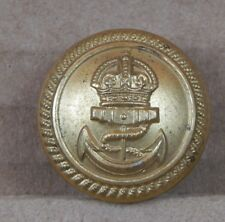 WW1 Royal Navy Officers Button Gilt Roped Edge  Firmin London 23mm