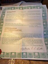 Rolex Garanzia Lunga COSC Warranty Paper Garantie Rolex white open