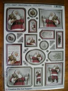 Die Cut Christmas Toppers by Craft Creations  'Vintage Father Christmas' (X23) M