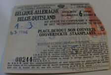 Ticket for collectors * Belgium - West Germany 1968 Brussel