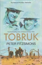 TOBRUK - Peter FitzSimons - Author of Kokoda and Nancy Wake - HB/DJ