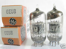2 matched 1960s GE 6EU8 tubes - Hickok TV7B tested @ 47/80, 46/81, min:28/46