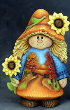 Ceramic Bisque Ready to Paint Scarecrow Girl Shady Lane Scene~No Cut Outs