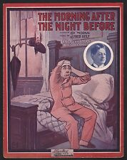 Morning After the Night Before 1910 Lew Dockstader Sheet Music