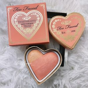 Too Faced Sweethearts SPARKLING BELLINI Perfect Flush Blush New 0.19 oz heart