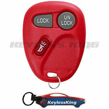 Replacement for Chevrolet Silverado 1500 2500 3500 - 1999 2000 2001 Remote Red