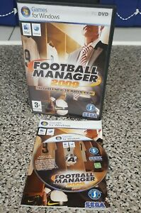FOOTBALL MANAGER 2009 - PC & APPLE MAC GAME - ORIGINAL & COMPLETE WITH MANUAL