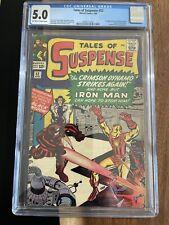 Tales of Suspense #52 CGC 5.0 Iron Man 1st Black Widow