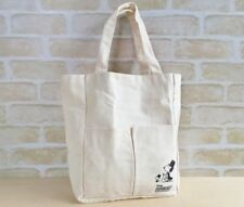 SNOOPY PEANUTS cotton rectangular tote bag Limited  Japan new