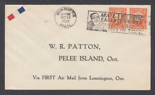 Canada Sc 141 on 1927 FIRST FLIGHT COVER, Leamington - Pelee Island