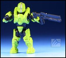 HALO MEGA BLOKS UNSC LIME GREEN SPARTAN GUNGNIR W/ RAILGUN MINI FIGURE