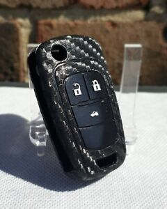"Silicone ""Carbon"" Key Case Cover for Vauxhall Astra,Corsa,Antara,Meriva,Insignia"