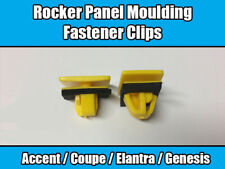 10x Clips For Hyundai Elantra Rocker Panel Moulding Fastener Yellow Plastic