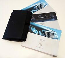 Genuine MERCEDES E CLASS W211 (2006-2009 ) MANUAL OWNERS GUIDE HANDBOOK & Wallet
