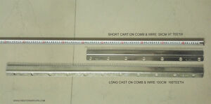 New Cast-on Comb Set (Long+Short) for 6mm  KR160 Ribber Knitting Machine