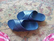 Fitflop Lulu Blue Cross Slide Sandals Slip On Ladies Box Size 6.5Genuine RRP£80
