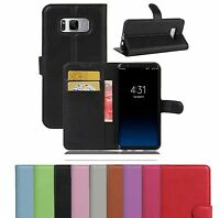 PU Leather Flip Wallet Book Cover Case Pouch For Samsung Galaxy A6 2018