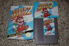 Super Mario Bros. 2 (Nintendo Entertainment System NES) Complete Oval GOOD C D