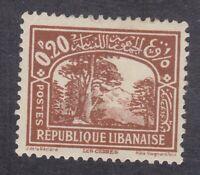 Lebanon 1930 -  0.20p Brown - SG164 - Mint Hinged (D10B)