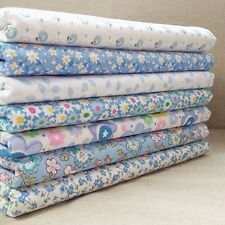 7Pcs Bundles Florals Sew Cotton Fabric Fat Quarters Gingham Quilt DIY HandCraft