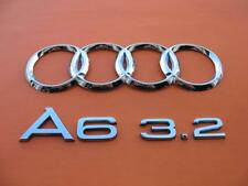 05 06 07 08 09 10 11 AUDI A6 3.2 REAR TRUNK LID CHROME EMBLEM LOGO BADGE SIGN #1
