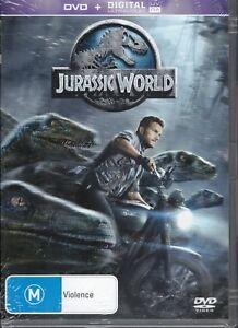 JURASSIC WORLD DVD Starring Chris Pratt NEW & SEALED Free Post