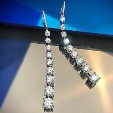1.00Ct Pear Cut VVS1/D Diamond Drop & Dangle Earrings 14K White Gold Finish