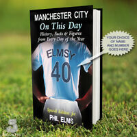 MAN CITY Book, PERSONALISED. History Facts. Manchester City Fan Gift. Football