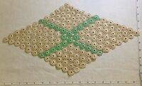 FABULOUS Diamond Antique Handmade Crochet Lace Runner Doily Very Old Linens #N