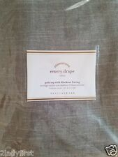 """2 Pottery Barn Emery Pole Top With Blackout Lining Drapes ~ 50"""" X 84"""" ~ GRAY"""