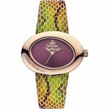 Vivienne Westwood 'ELLIPSE' Ladies Leather Watch Maroon Dial VV014RS RRP £210