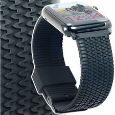 Silicone Rubber Strap For Apple Watch Band 42mm Large / XL TIRE TREAD iWatch