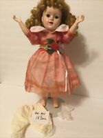 """Pink-Coral Doll Party Dress-Hair Bow-15""""/16""""/17""""/18"""" doll- Vintage-Modern (P6)"""