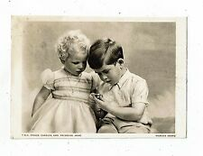 POST CARD A PLAIN BACKED CARD T.R.H. PRINCE CHARLES AND PRINCESS ANNE