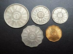 1959 IRAQ 1 10 25 50 100 FILS SET 3 SILVER COINS KM 119 121 122 123 124