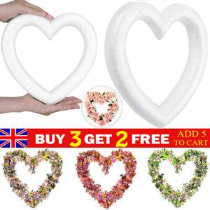 White Foam Wreath Heart-shaped Polystyrene Styrofoam Model DIY for Flora Crafts