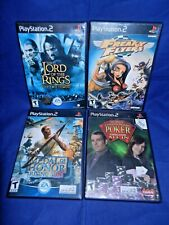 Lot of 4 PS2;Medal of Honor,Lord Of Rings,Wrld Champ Poker,w/ Mans,Freaky Flyers