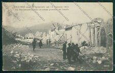 L'Aquila Avezzano Terremoto cartolina QQ3907