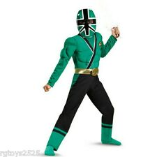 Power Rangers Samurai Green Muscle Costume size 7-8 M New Child Halloween
