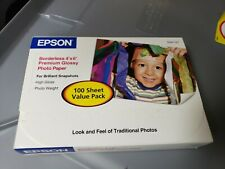 NEW SEALED Epson Premium Photo Paper GLOSSY Borderless 4x6 68 lb 100 sheets