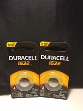 2 New Duracell CR1632 DL1632 Lithium Coin Cell Batteries 3V- USA Seller