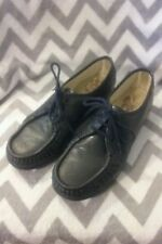 SAS Gray Leather Hand sewn comfort loafer walking shoes. Sz. 9M