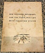 VTG 1940 FORD FERGUSON SYSTEM TRACTOR IMPLEMENT SALES BROCHURE FINDLAY OHIO
