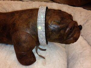 Dog Christmas Gift Rhinestone Dog Collars all sizes and colors