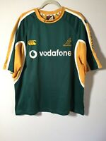 Canterbury Mens Australian Wallabies Rugby T Shirt Size 2XL Short Sleeve