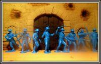 25  Marx Alamo Mexican  54mm-Soldiers 1:32 Zorro/Round Hat Cannon