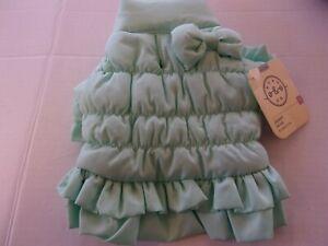 PRINCESS Turquiose Ruffle bow Jacket Dog XXS S M Bond & Co new pet coat XXSmall
