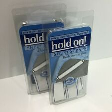 Hold On! Bed Sheet Straps 2 Sets 4 - 8 NEW Total Straps to Hold Sheets in Place